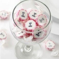 """Hochzeitsbonbons """"Mr. und Mrs."""" pink/ 50 Stück, 9,95 €"""