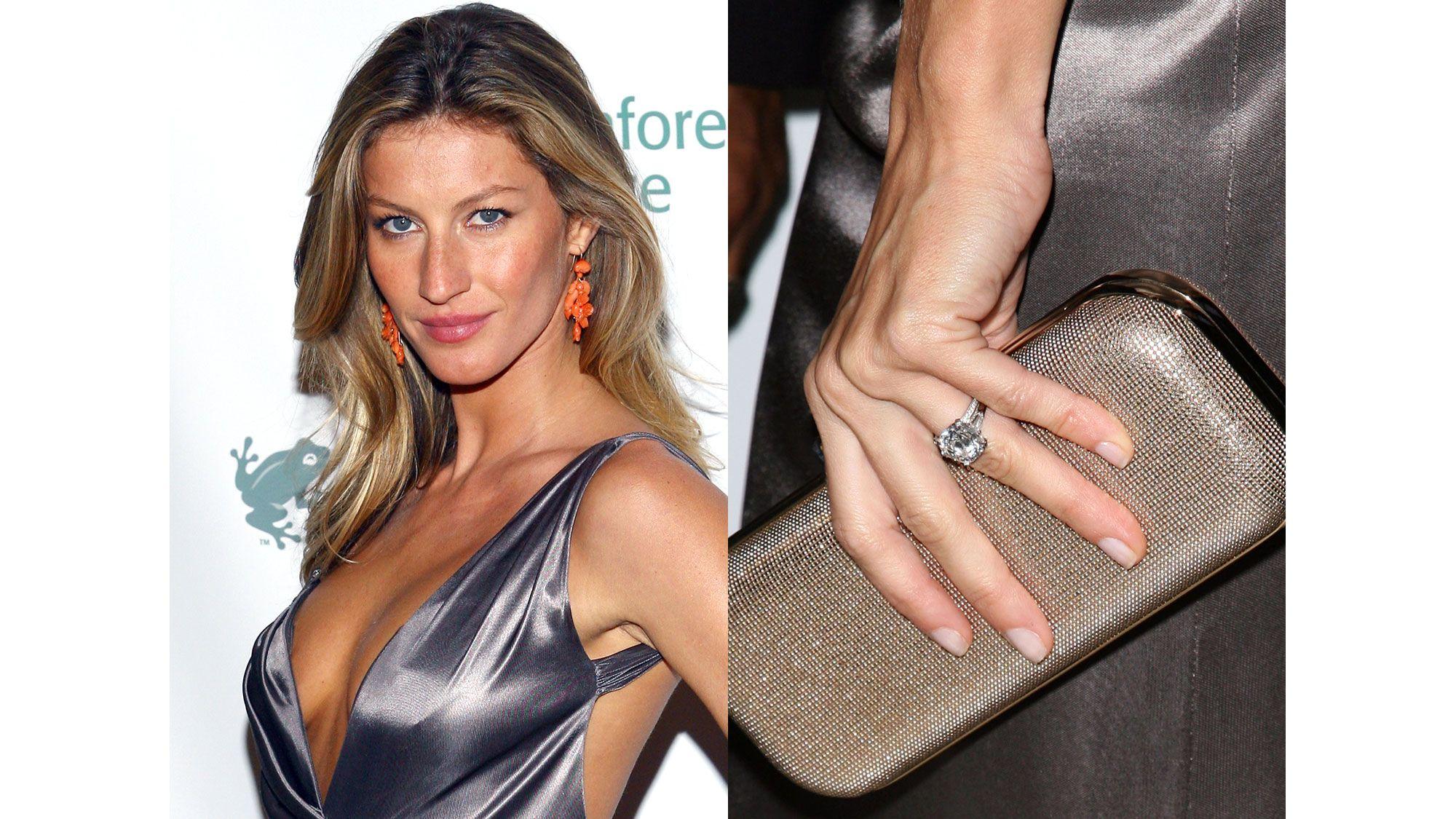 Gisele Bundchen  Tom Brady Gave Gisele A Fourcarat Diamond Solitaire Ring  When They