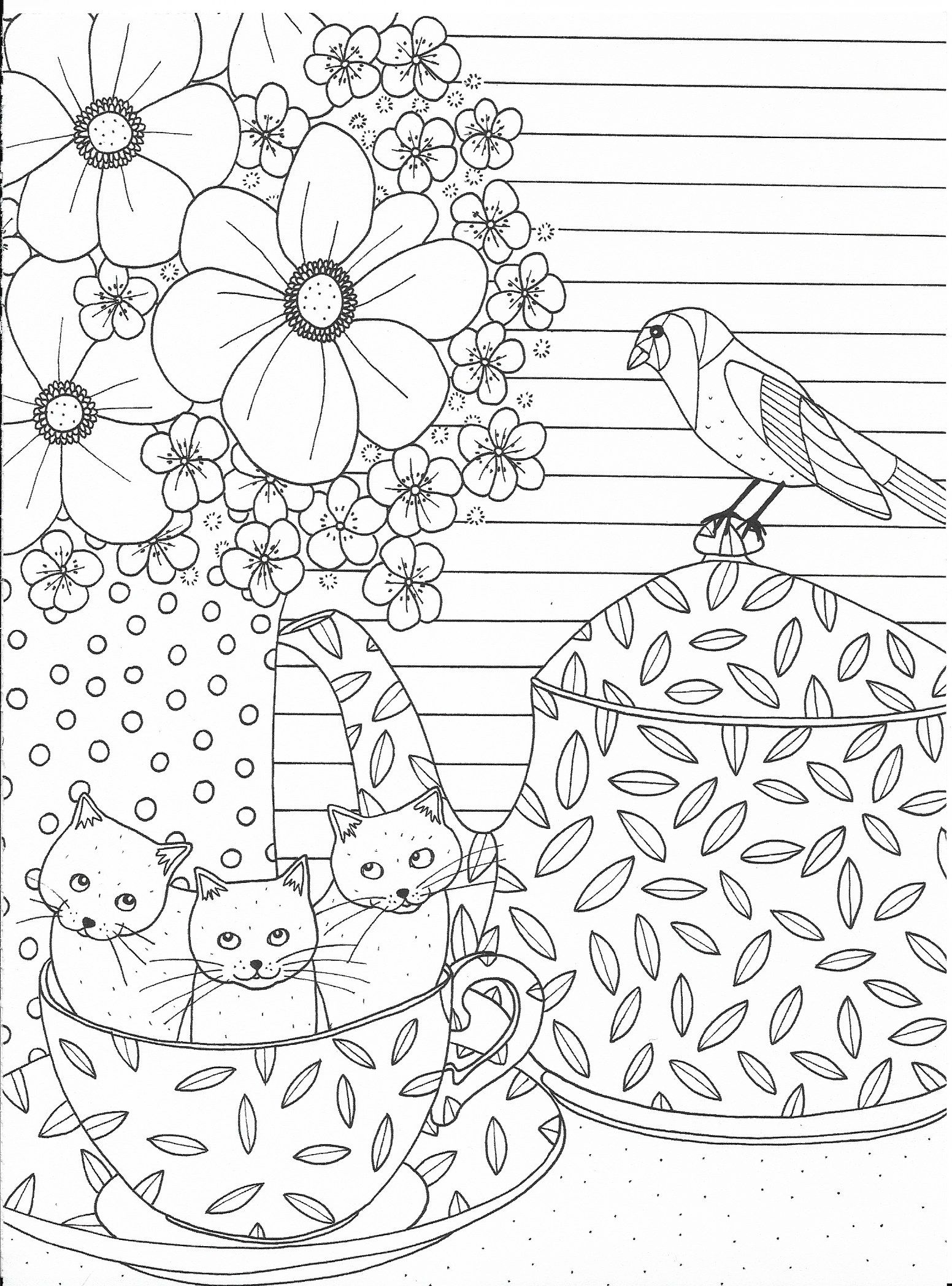 cute cats in a cup coloring page how cool is this pinterest