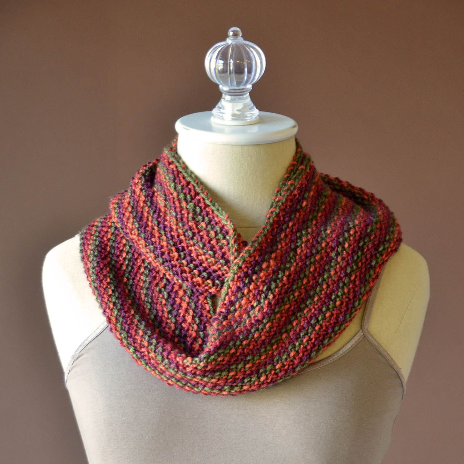 Uptown DK Colors Seed Stitch Cowl wrapped square no graphic ...