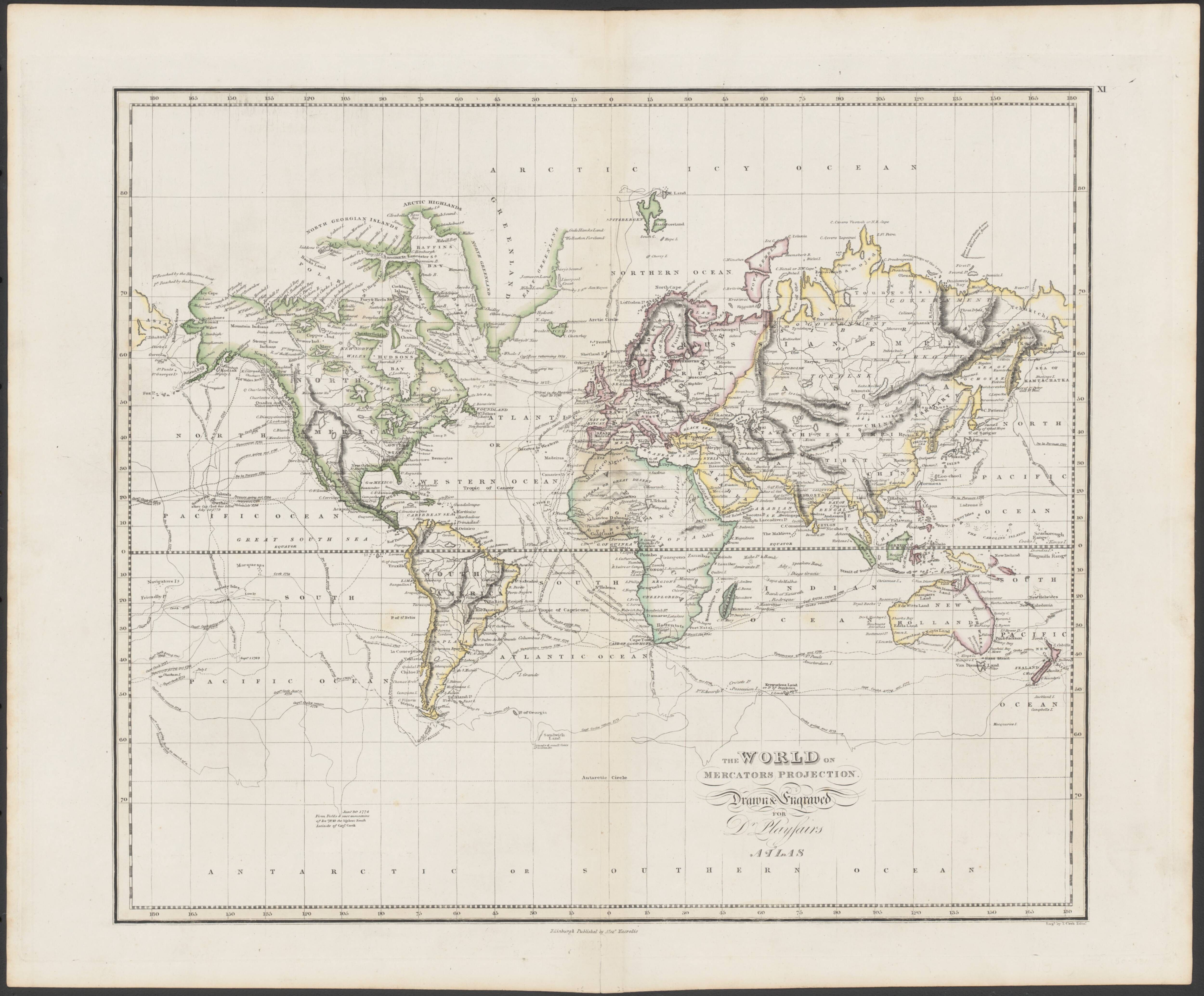 1814 world map showing the routes of cook vancouver gores ross 1814 world map showing the routes of cook vancouver gores ross phips gumiabroncs Image collections