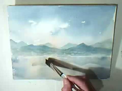 Aquarell Farb U Luftperspektive Ganz Einfach Youtube