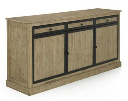 buffet alinea buffet 3 portes design industriel cocto. Black Bedroom Furniture Sets. Home Design Ideas