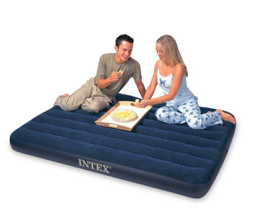 With Plush Flocking On The Top The Classic Downy Airbed Gives A More Luxurious Sleeping Surface And Helps Keep Beddi Air Mattress Camping Air Bed Air Mattress