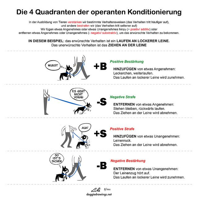 The Quadrants Of Operant Conditioning Walking German Operant Conditioning Dog Training Dog Training Tips