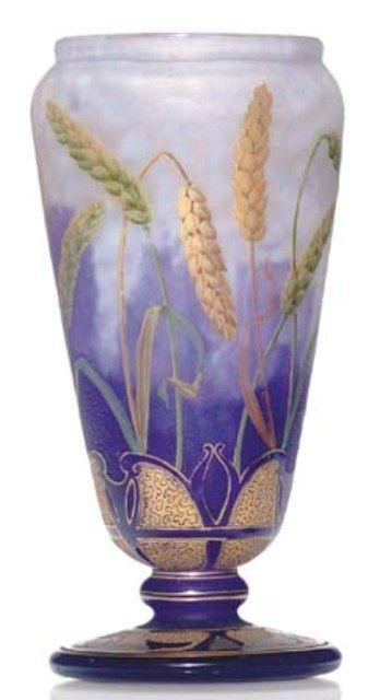 Daum Nancy Wheat Stalks Vase Value And Appraisal Daum Nancy