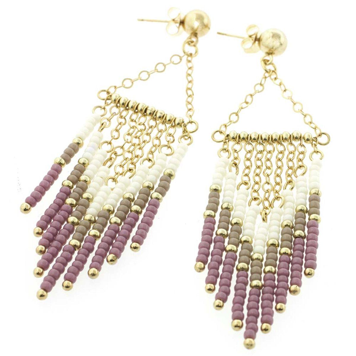 flirty fringe earrings | fusion beads inspiration gallery
