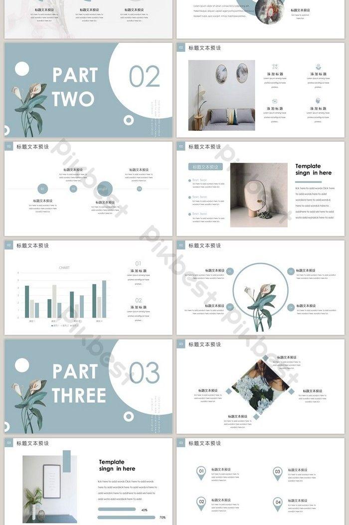 Blue hello 2019 theme courseware PPT template | Po