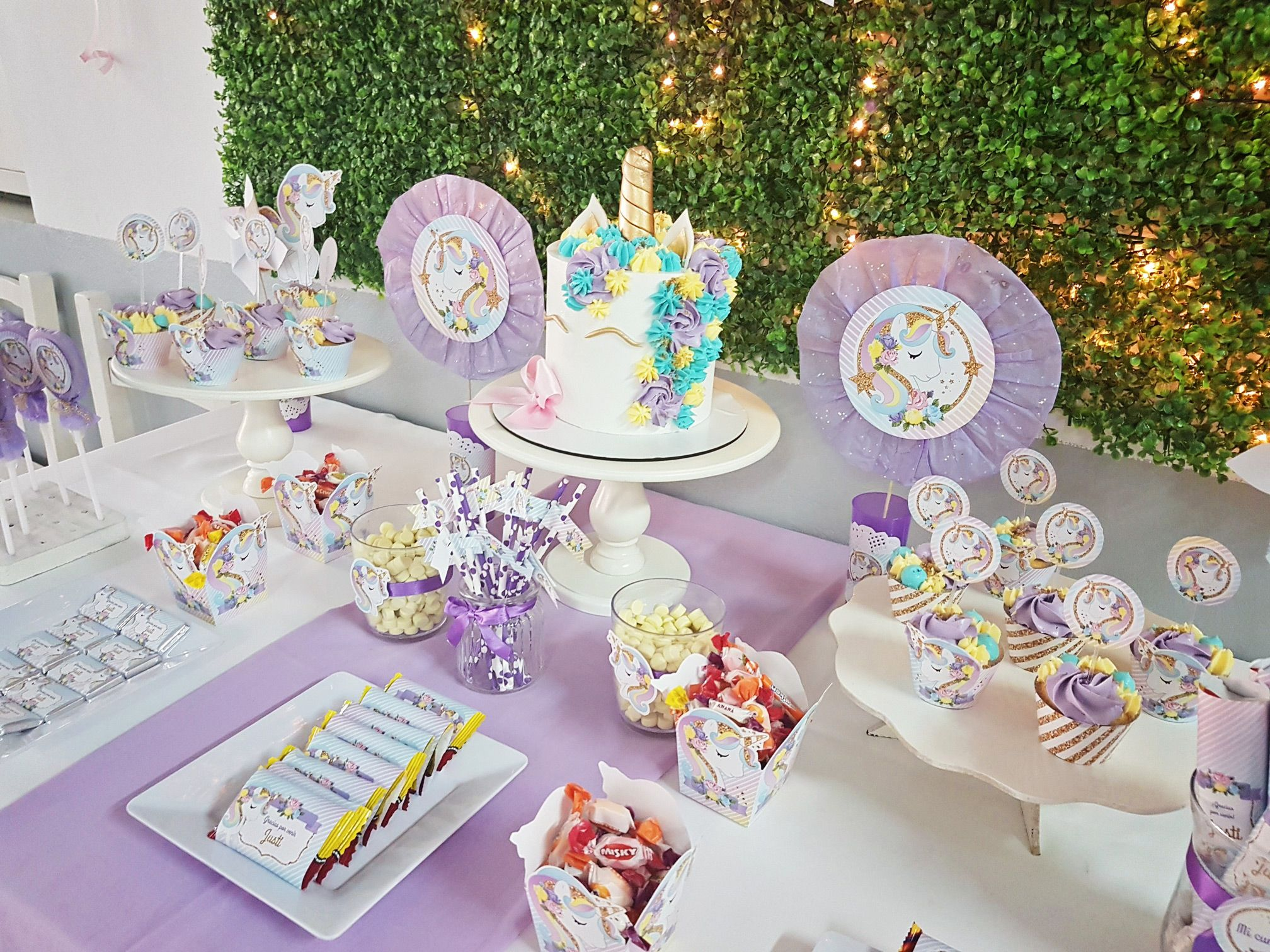 mesa dulce de unicornios unicornios pinterest