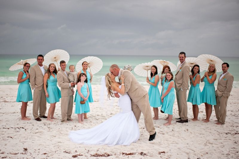 aqua florida beach wedding