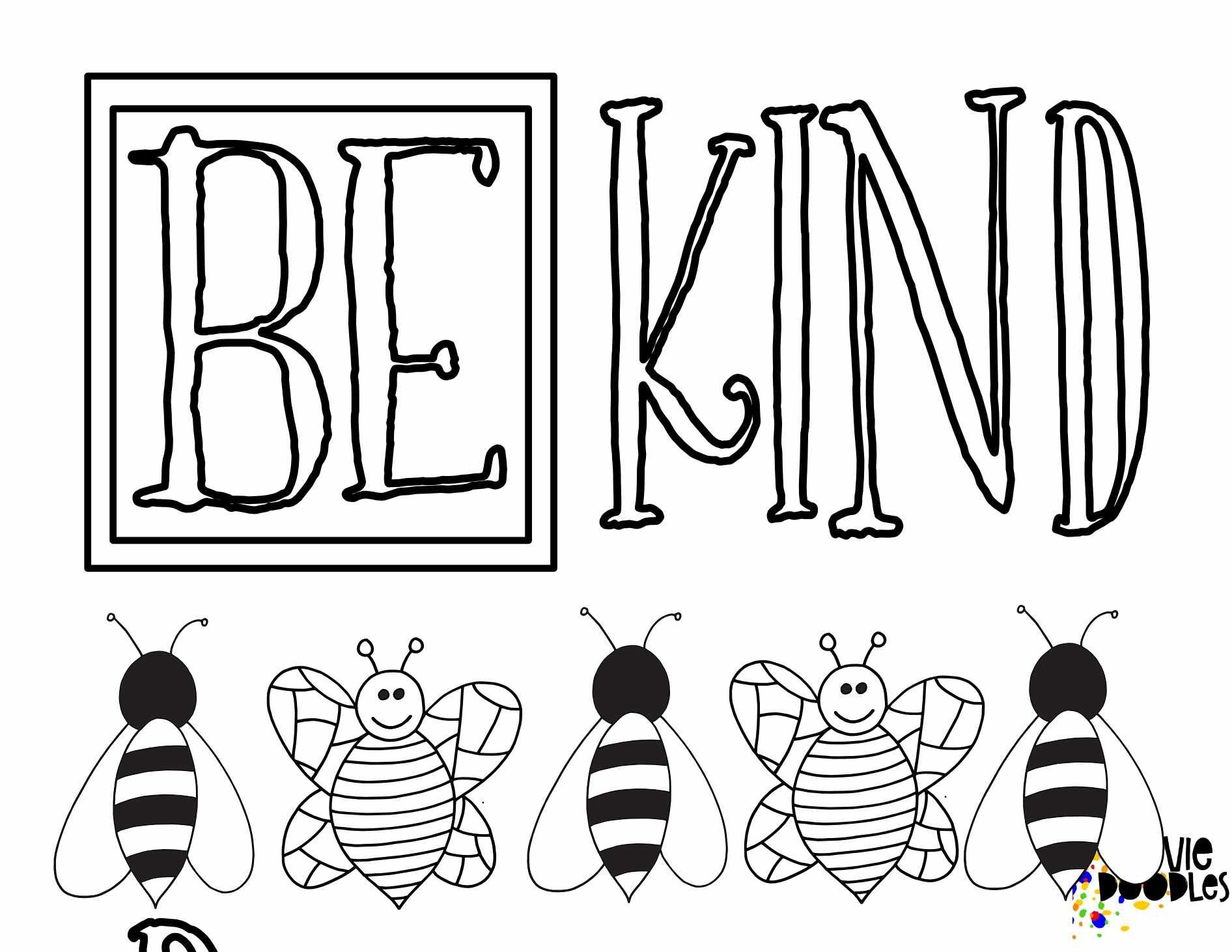 6 Free Be Kind Printable Coloring Pages Stevie Doodles Coloring Pages Bee Coloring Pages Free Printable Coloring Pages [ 1462 x 1892 Pixel ]