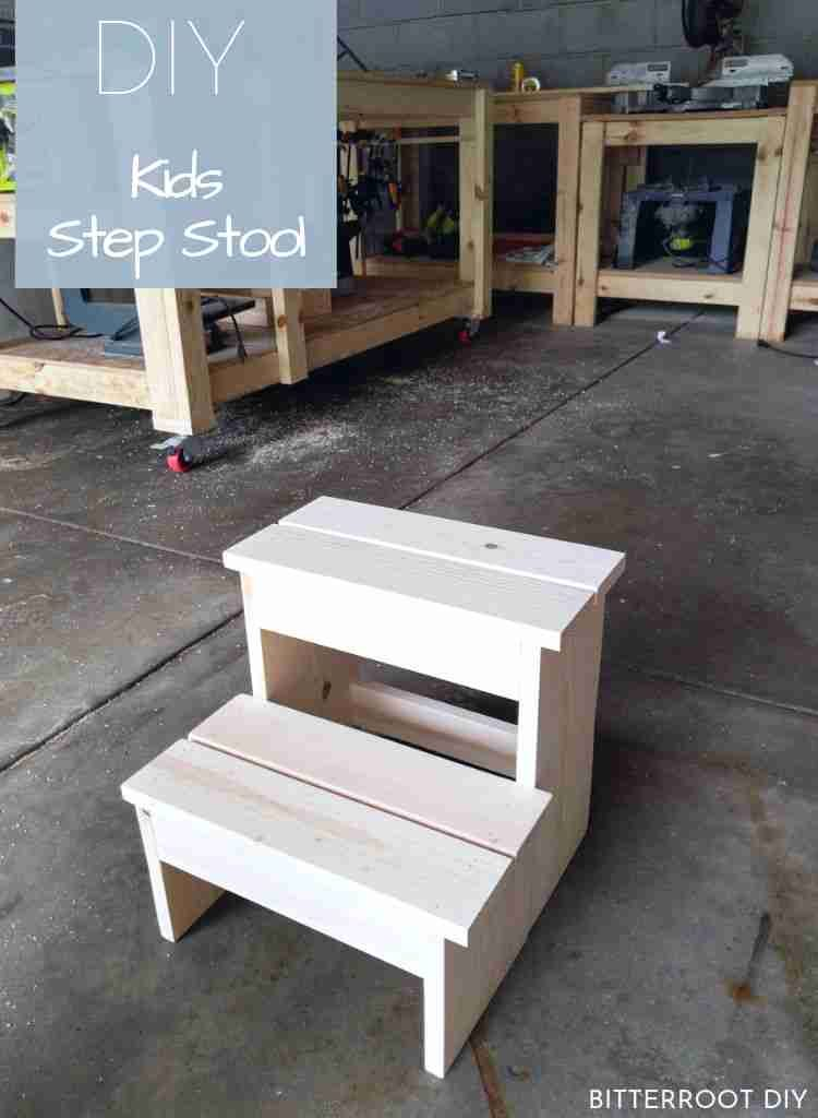 DIY Kids Step Stool | build a simple step stool with plans from Bitterroot DIY
