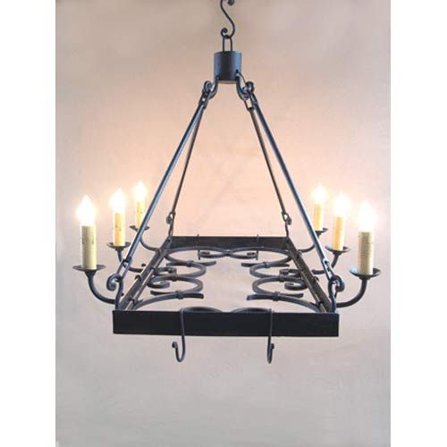Hand painted bronze pot rack chandelier santangelo lighting design candles without shades bellacor lighting