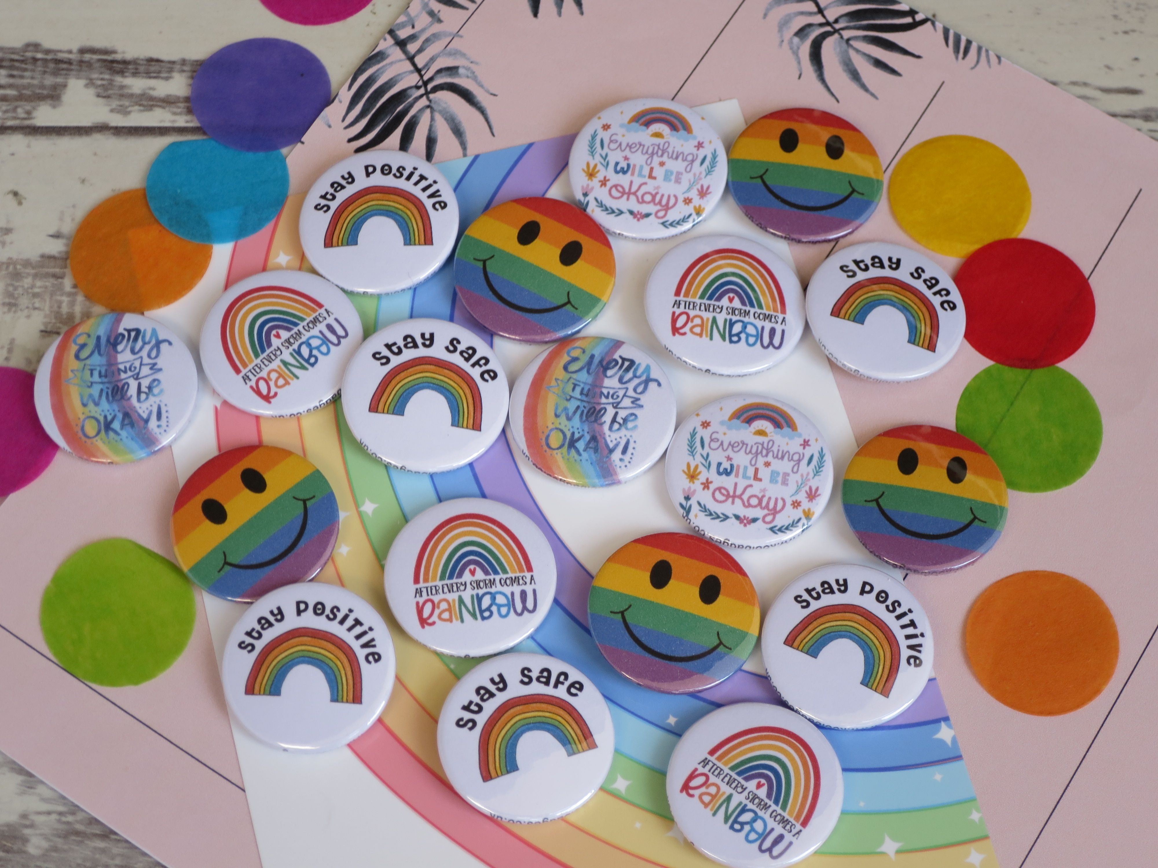 Everything will be ok rainbow positive and hero themed
