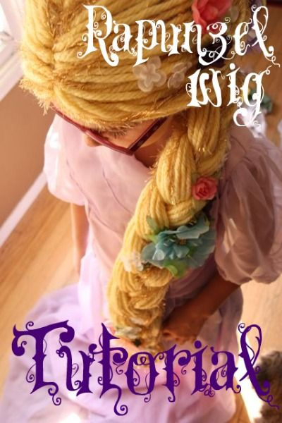 Free Rapunzel Dress Pattern And 4 Rapunzel Hair Tutorials Yarn Wig Rapunzel Wig Diy Yarn Crafts