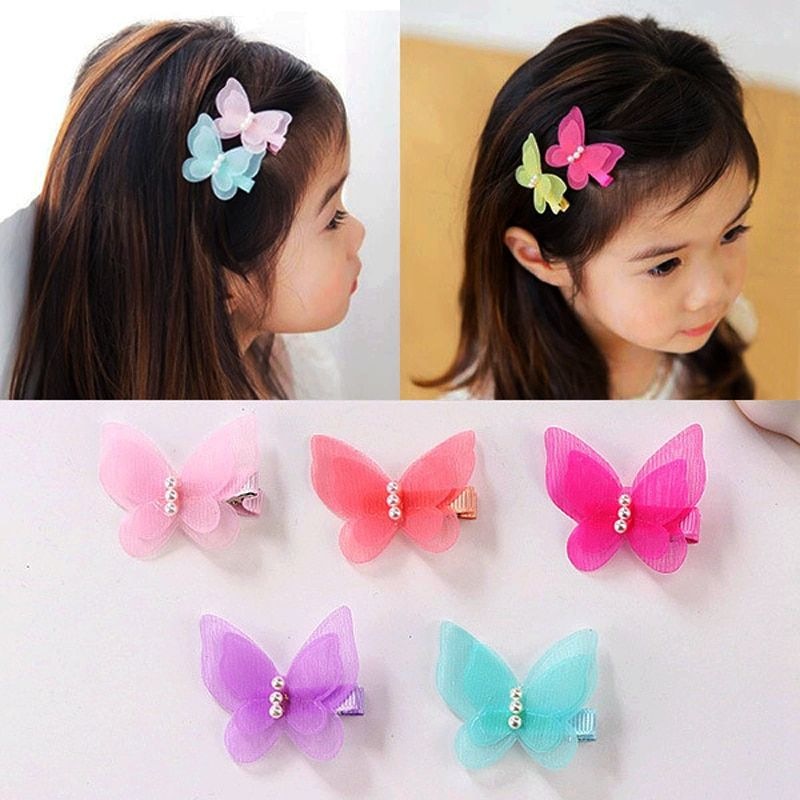 Baby hair pins kids hair accessories butterfly clips #babyhairaccessories