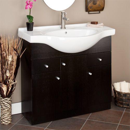 "36"" narrow Carrel Vanity Small bathroom sinks"