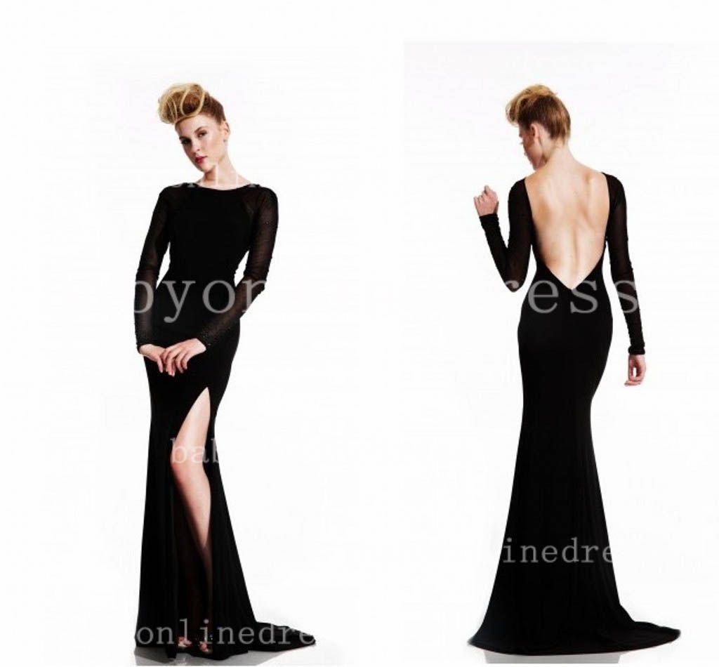 black prom dress with slit - Google Search   Prom 2016   Pinterest ...