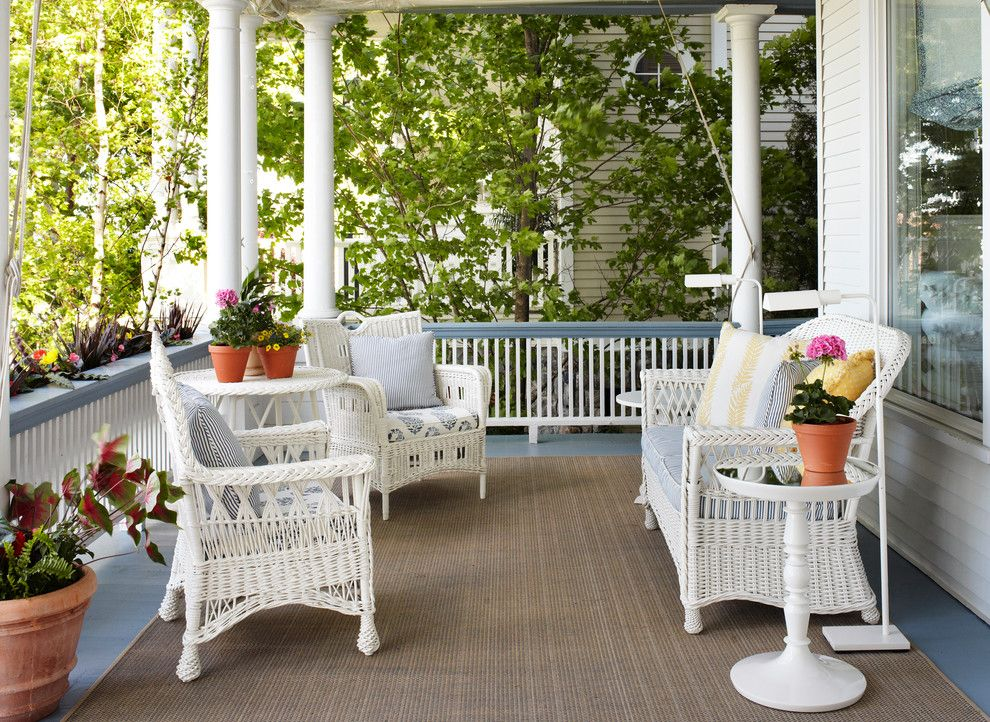 furniture for porch. Cheap-wicker-furniture-Porch-Traditional-with-covered-porch- Furniture For Porch I