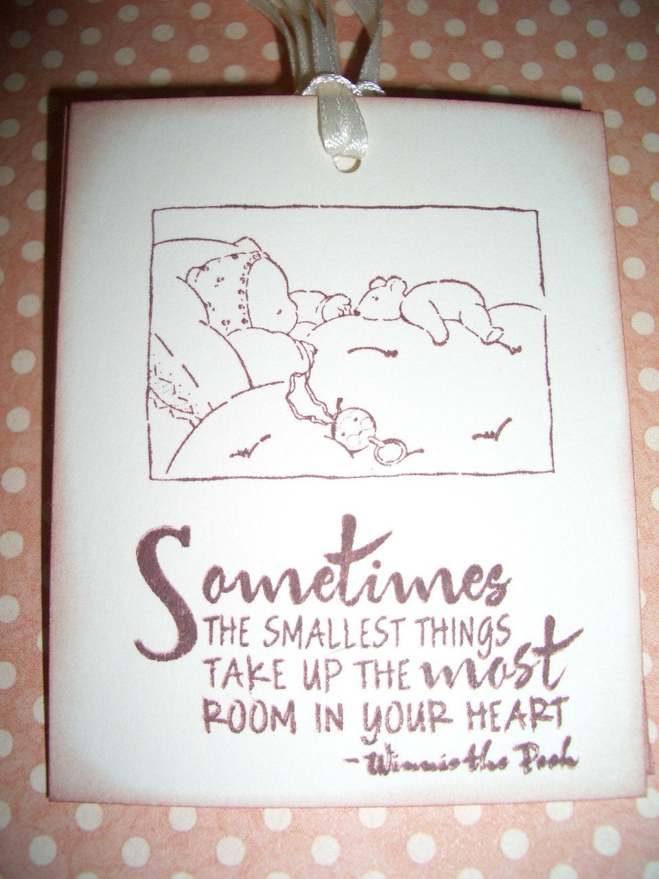 Baby Tags Sweet Winnie The Pooh Quote Smallest Things Baby