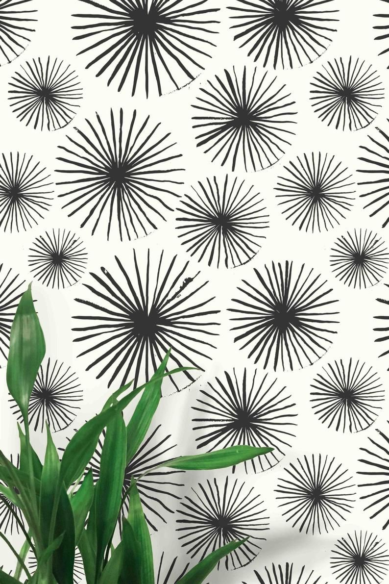 Fabric Peel Stick Wallpaper Round Shapes Pattern Etsy Peel And Stick Wallpaper Orange Peel Wall Texture Decorating With Sticks