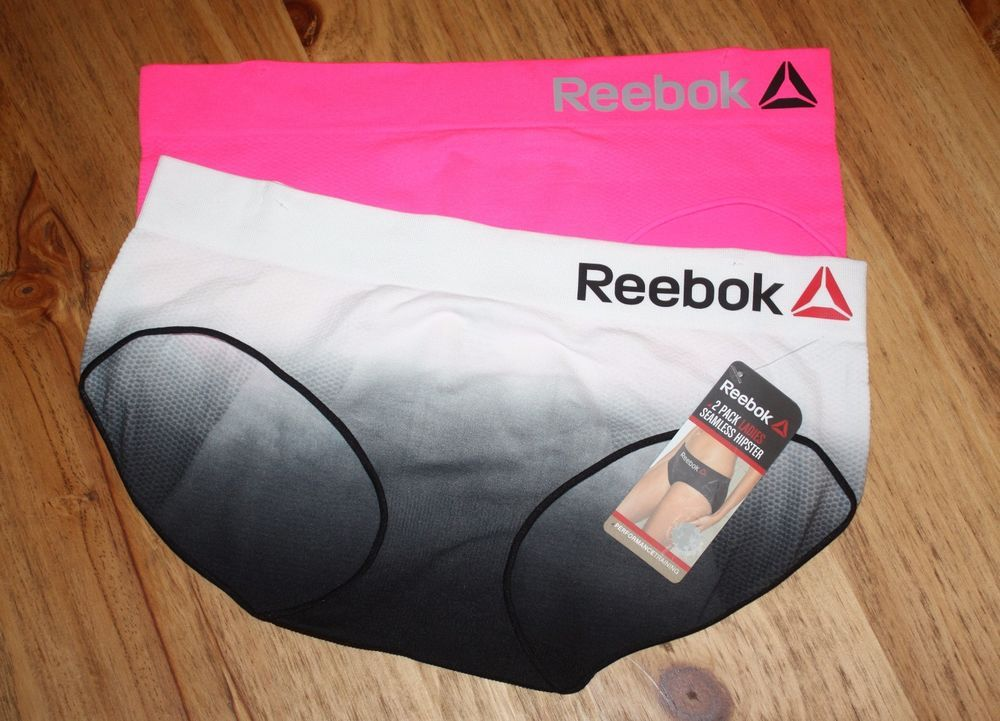 bd2260e46 REEBOK MEDIUM 2 PACK WOMENS SEAMLESS HIPSTER PERFORMANCE TRAINING UNDERWEAR   REEBOK  Hipster  Everyday  Workout  Training  Panties
