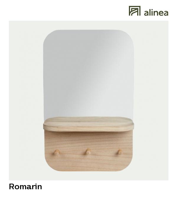 alinea : romarin miroir mural porte-bijoux 35x55.5cm les sélections ...