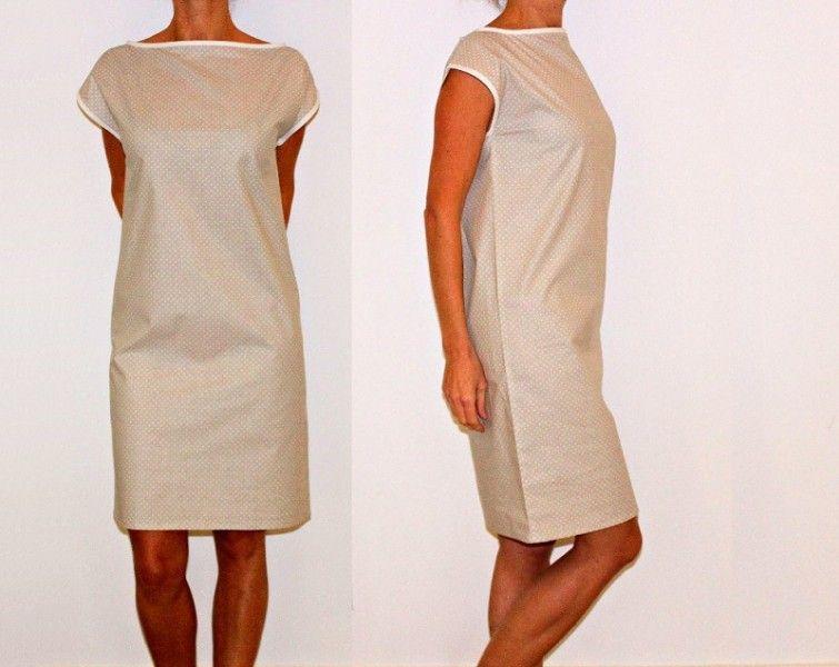 patron couture robe droite