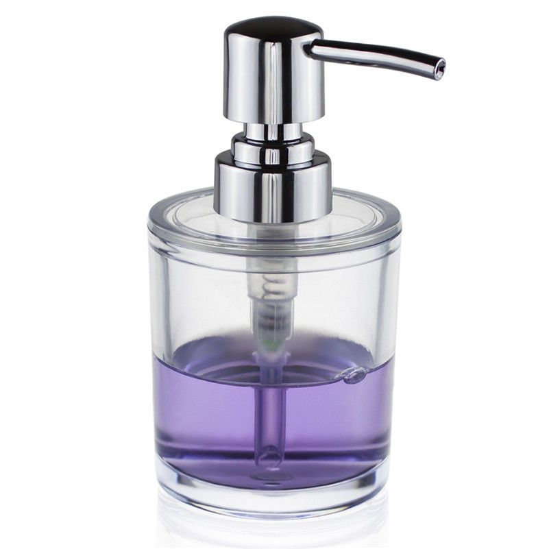 Clear Abs Liquid Soap Dispenser Pump Bottle Bathroom Kitchen Countertop