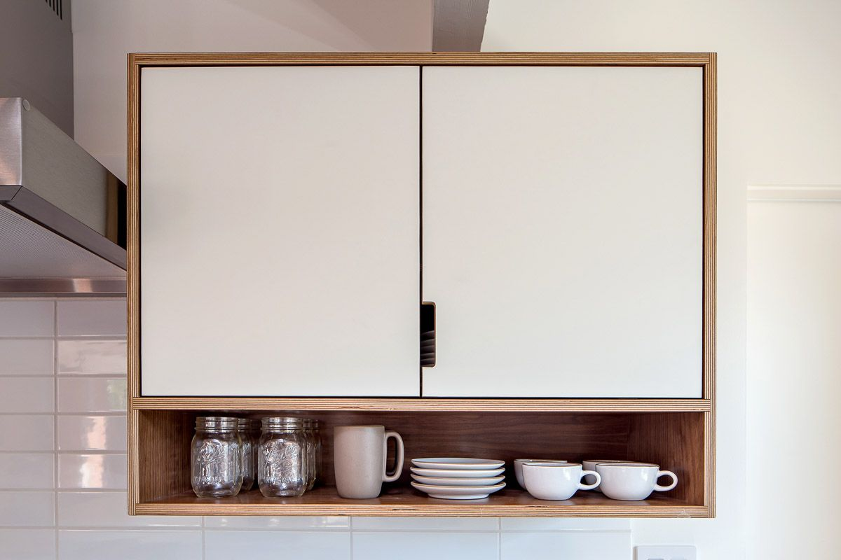 One of our favorite kitchen cabinet combos two doors above an open