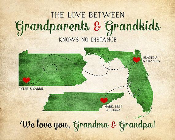 Grandparents Christmas Gift Gift For Grandma And Grandpa Print