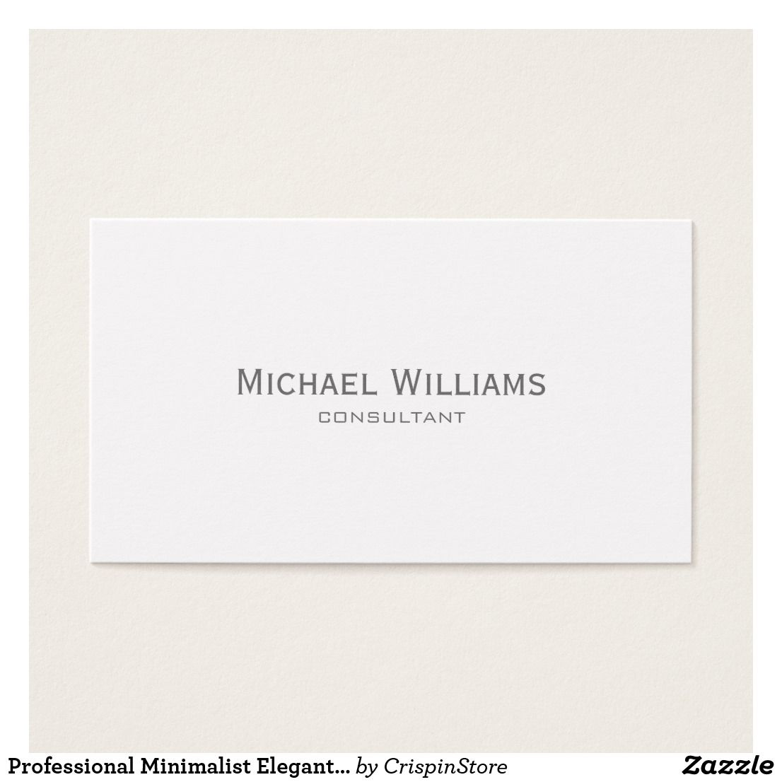professional minimalist elegant plain white business card
