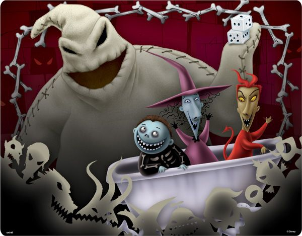 Oogie Boogie Barrell Shock Lock The Nightmare Before Christmas 1993 Sally Nightmare Before Christmas Halloween Art Projects Nightmare Before Christmas