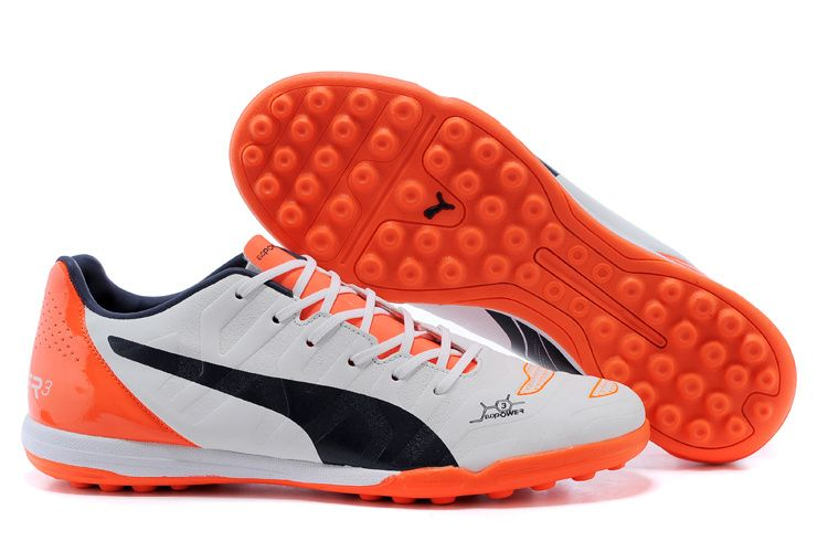 6695809f2cb2 inexpensive 2015 latest puma evopower 3 turf soccer boots white orange  black 1bfd4 b01fd