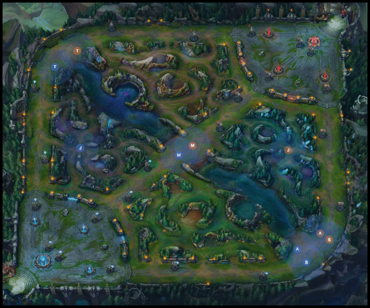 League Legends Summoners Rift Map