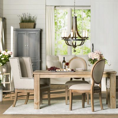 August Grove Betty Jo 6 Light Candle Chandelier · Dining Room ...