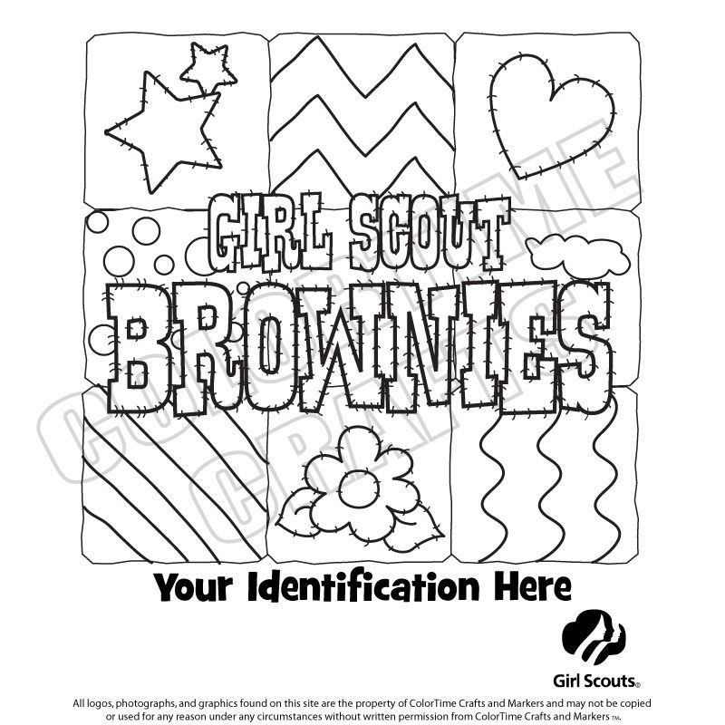 Girl Scout Coloring Sheets | Brownie Girl Scout