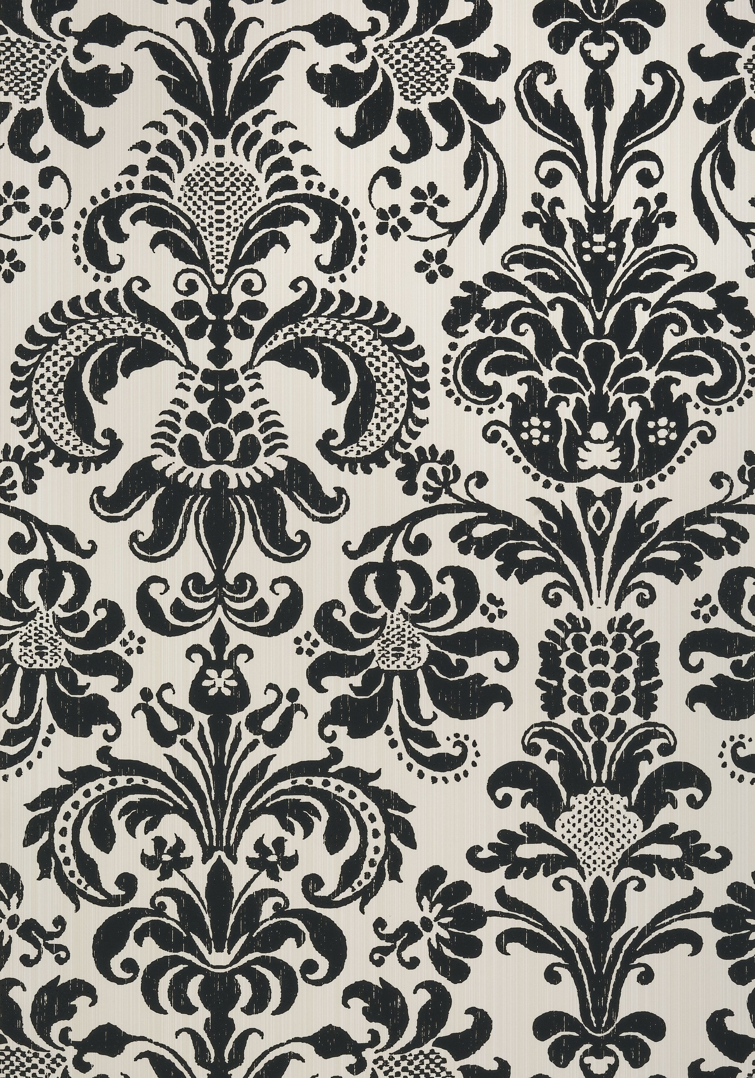Ashley Black On Cream T89167 Collection Damask Resource 4 From Thibaut Wallpaper Connection Call Our Blue And White Wallpaper Thibaut Wallpaper Thibaut