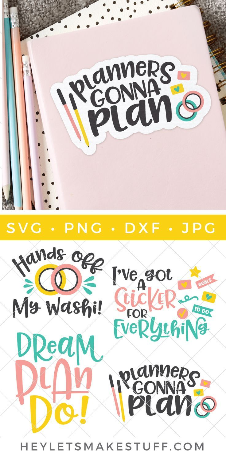 Free Planner SVG Planners Gonna Plan Free planner