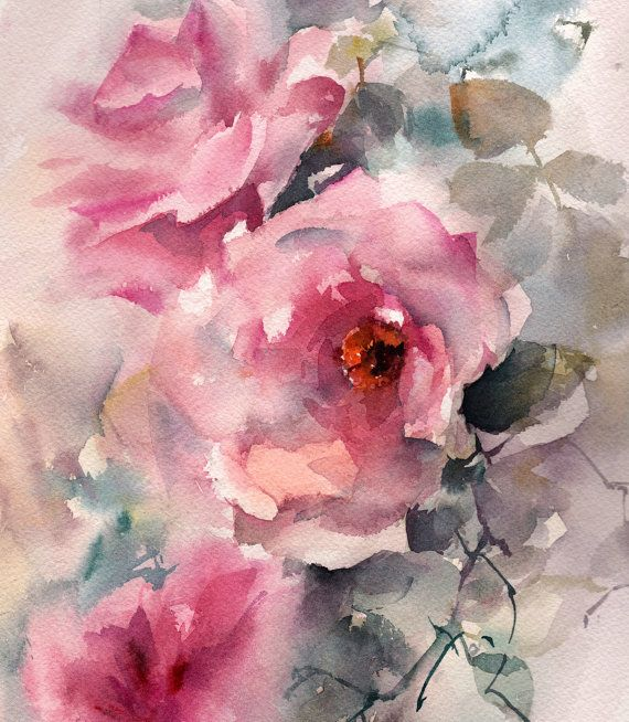 Roses original watercolor painting pink roses roses by canotstop roses original watercolor painting pink roses roses by canotstop mightylinksfo