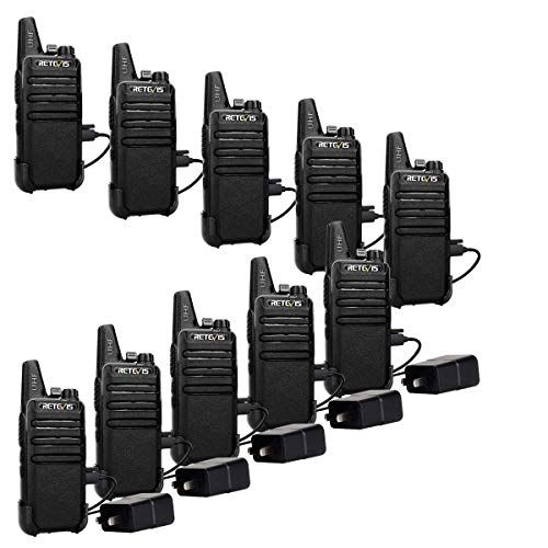 Retevis RT22 Two Way Radios Rechargeable Walkie Talkies 16 CH VOX Channel Lock Emergency A