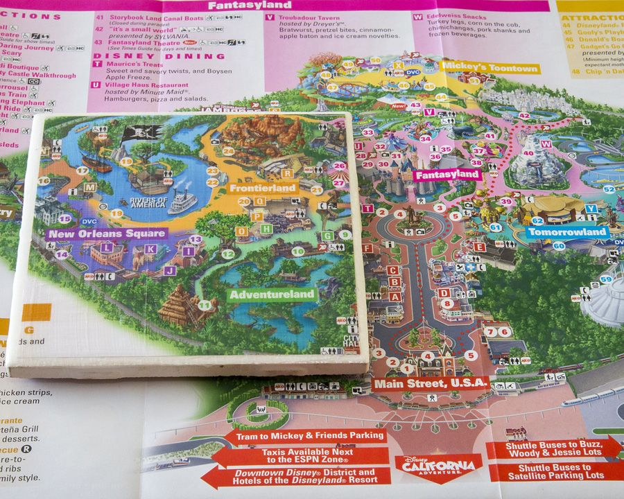 Show Your DIY Disney Side: Disney Parks Guide Map Coasters | Map ...
