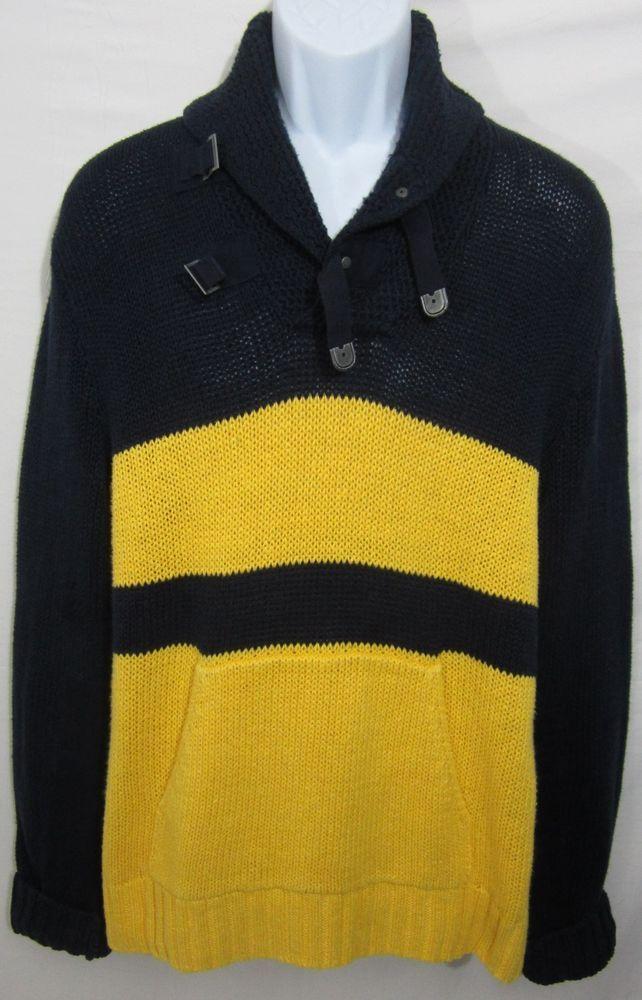 Ralph Lauren Men Yellow Pullover Merino Sweaters