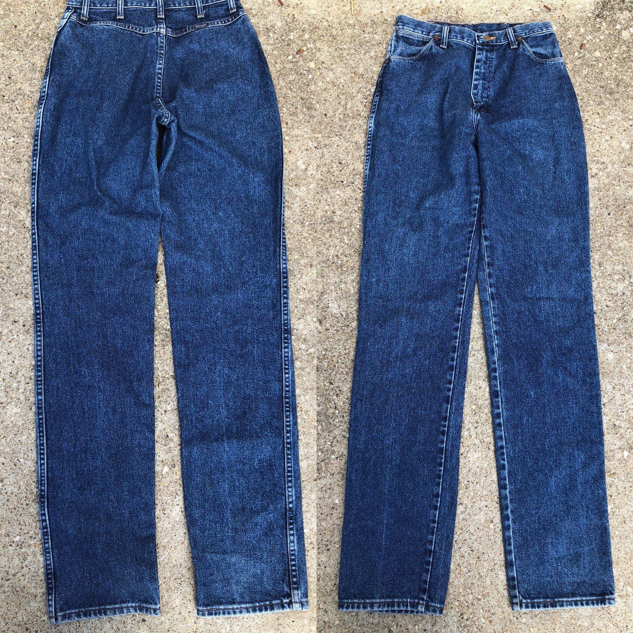 Non Womens Denim Jeans Vintage Skinny Blue Elastic