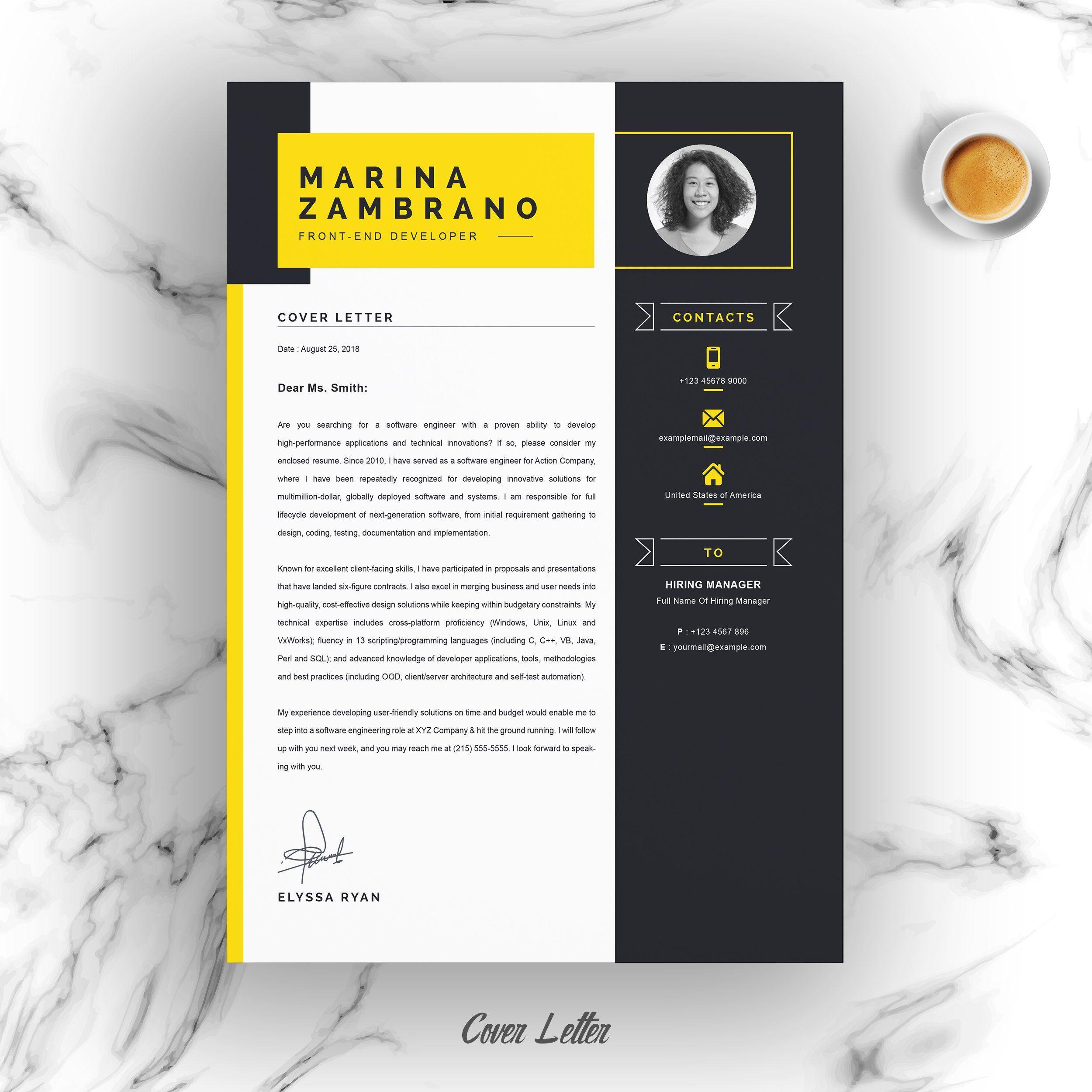 Minimalist Clean Resume Cv Template