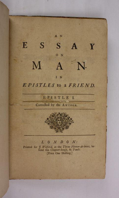 An essay on man alexander pope summary