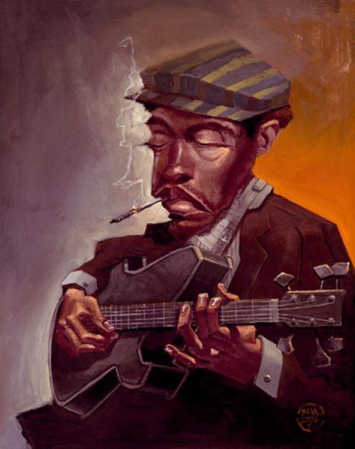 ✯ Blues Man :: Artist Justin Bua ✯