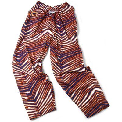 Chicago Bears Zubaz Pants Navy Blue Orange Zebra Pant Nfl Outfits Logo Pants