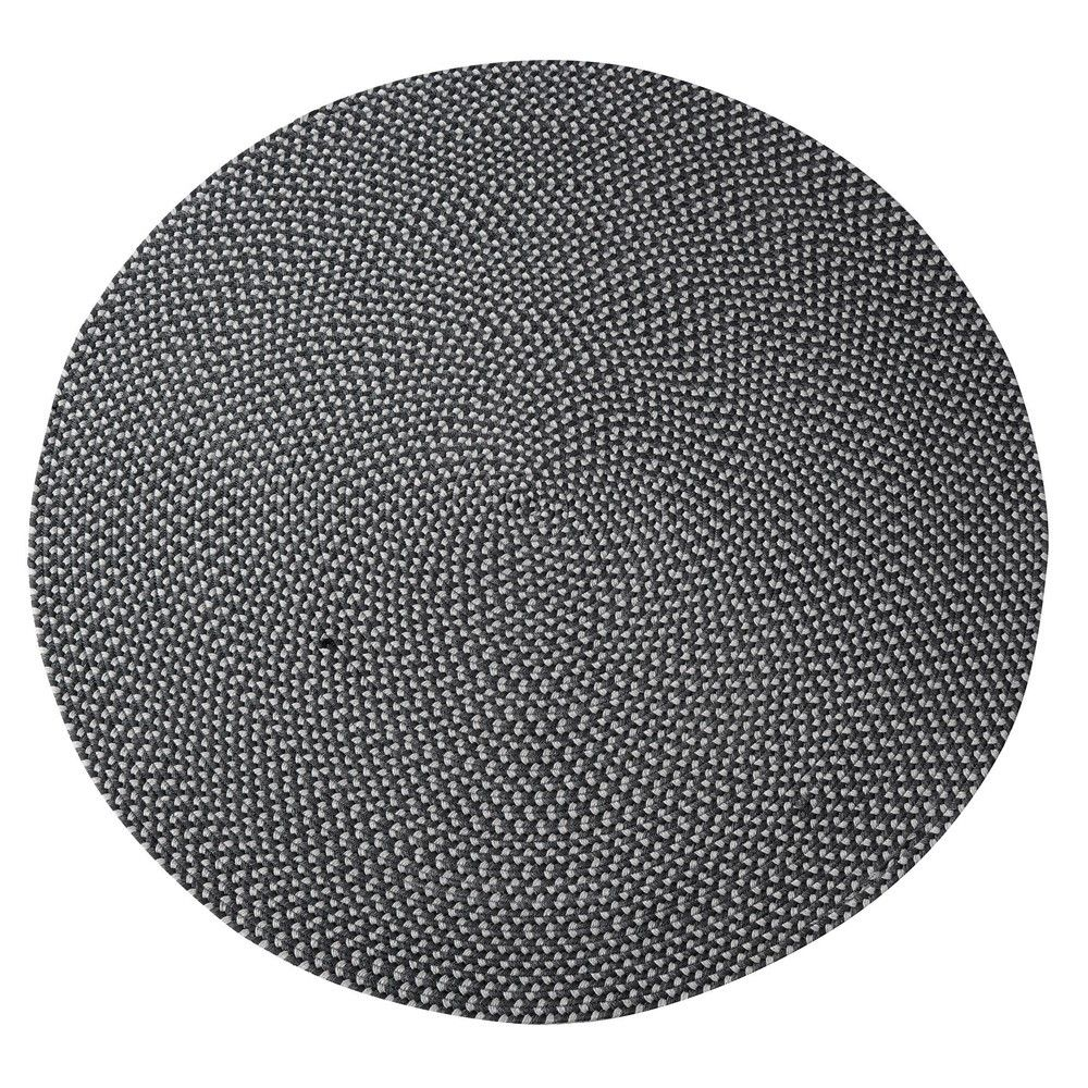 Gloster Round Outdoor Rug   Dark Grey