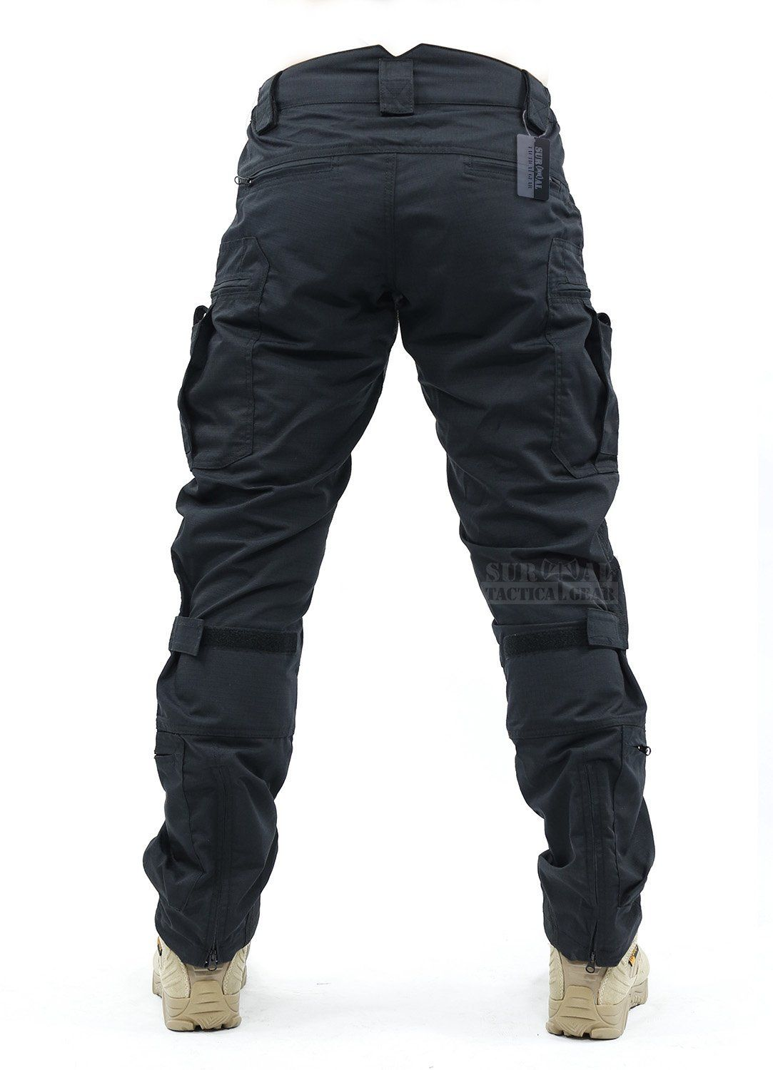1e67b593 Amazon.com : Survival Tactical Gear Men's Airsoft Wargame Tactical Pants  with Knee Protection System & Air Circulation System (A-TACS AU, ...